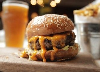 Photo of Cheeseburger & Pot @ Fitzroy Beer Garden