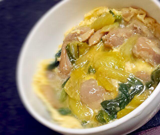 鶏肉とチンゲン菜が余ってたので親子丼にしてみました(笑) - 1件のもぐもぐ - 余り物親子丼♪ by mocosanvivi51