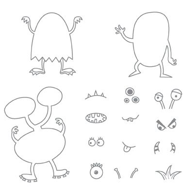 Make A Monster - Clear-Mount Stamp 120606  Price: $17.95    With this fun-tastic set, you can make a whole troupe of monsters to keep your little monsters company! Complete with eyes, mouths, and other scary appendages, you can make all kinds of custom creatures for any kind of project to entertain loved ones. But    Set Quantity: 15
