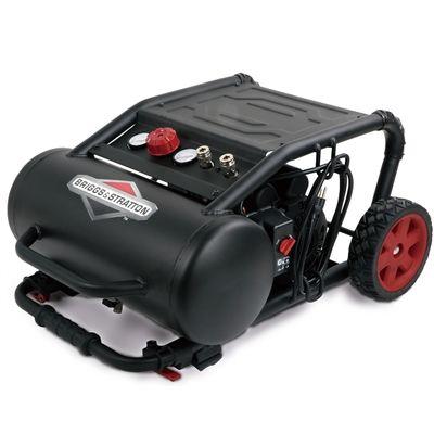 Briggs & Stratton 2-Hp 5-Gallon 200-PSI 120-Volt Hot Dog Portable Electric Air Compressor