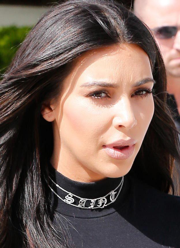 Personalized Name Choker Necklace Kim Kardashian Saint