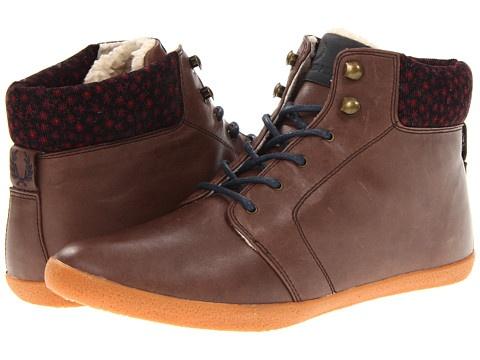 Fred Perry Garnett Leather, Dark Chocolate/Navy, sale $112.99