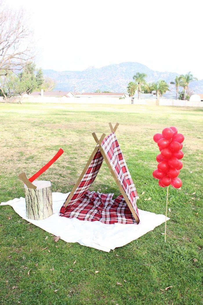 Little Lumberjack themed birthday party via Kara's Party Ideas | KarasPartyIdeas.com (34)