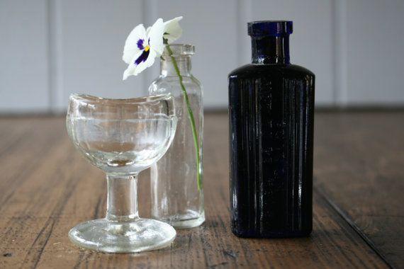 Trio Medical Glass Bottles Eye Wash  Instant by FoundByHer on Etsy
