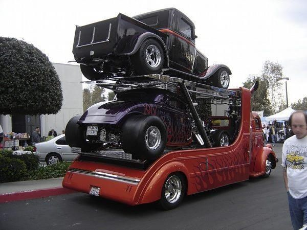 double decker car hauler COE. Way cool! & 117 best Car Haulers images on Pinterest | Tow truck Big trucks ... markmcfarlin.com