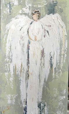 Angel prophetic art painting.