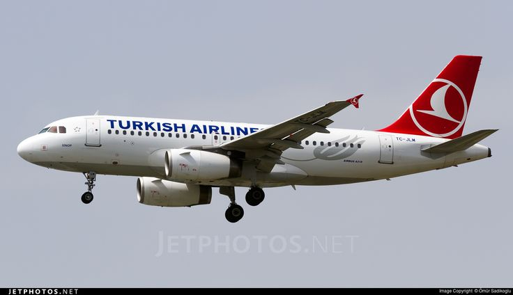 Airbus A319-132, Turkish Airlines, TC-JLM, cn 2738, 132 passengers, first flight 23.3.2006, Turkish Airlines delivered 27.4.2006. Active, for example 14.6.2016 flight Istanbul - Ljubljana. Foto: Istanbul, Turkey, 13.5.2016.