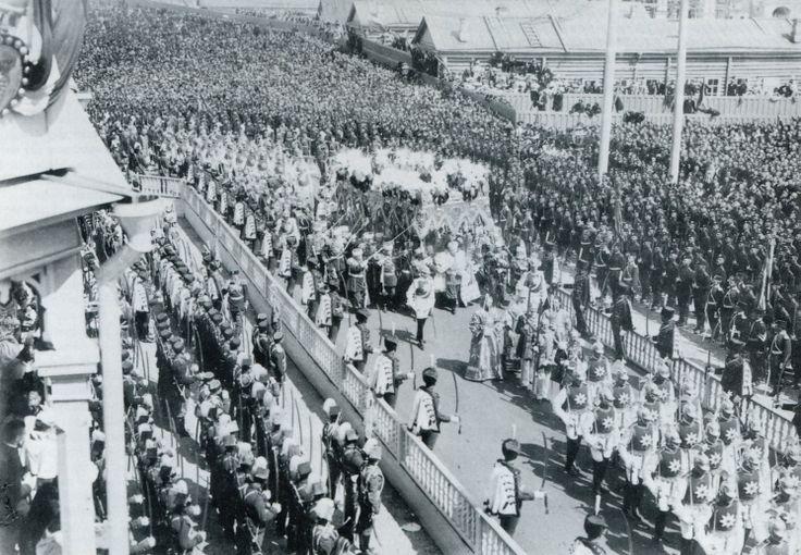 1896 - The coronation procession of Nicholas II of Russia