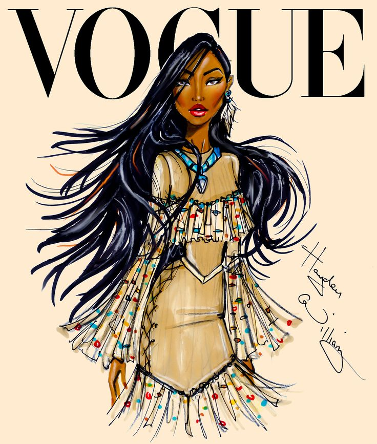 Disney Divas for Vogue by Hayden Williams: Pocahontas // Las divas de Disney para Vogue: Pocahontas