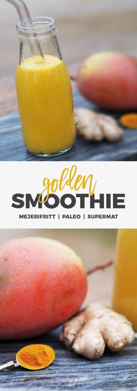 Recept: Golden smoothie med gurkmeja och mango.