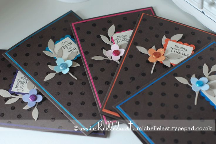from michellelast.typepad.co.ukScallops Squares, Distressed Dots, Crumb Cakes, Quick Cards, Floral Fusion, Backgrounds Stamps, Stampin Up, Dots Backgrounds, Leaves Sizzlits