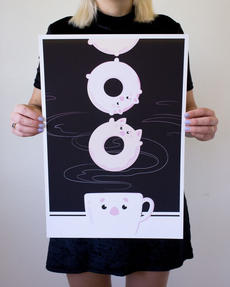 This is the fifteenth in the series, titled Dunkin' Donut Cats by Seattle artist Breanna Welsh. Watch as a few terrified Donut Cats attempt to escape the dreaded coffee cup!
