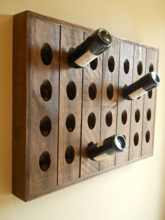 French Riddling Rack Wine Rack Pottery Barn Style Riddling Rack 28 Bottle Riddling Rack On Etsy 119 00 Wineracks Riddling Rack Wine Rack Diy Wine Rack