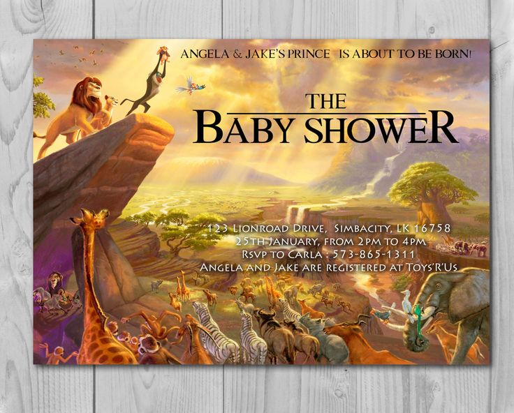 Lion King Baby Shower Invitation, Jungle Invitation, Disney Invite, Lion Invitation, Lion King, Simba, Rafiki by Printadorable on Etsy https://www.etsy.com/listing/256442509/lion-king-baby-shower-invitation-jungle