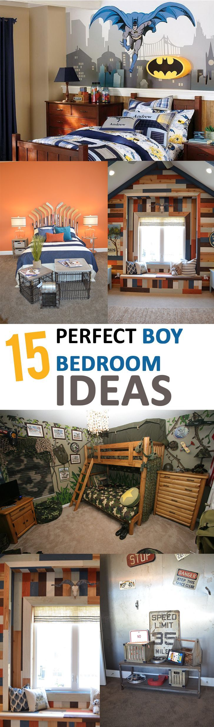 15 Perfect Boy Bedroom Ideas  // For more family resources visit www.tots-tweens.com! :)