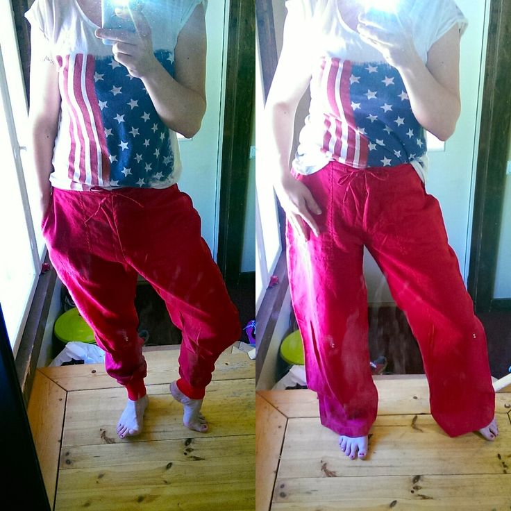 My old H&M pants get a second change and is my new favorite diy harlem pants. Me like - a lot