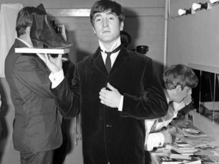 "celebratorypenguin: "" John serves up a Beatle boot in Bournemouth, August 22, 1963. (My scan from ""Looking Through You: Rare & Unseen Photos form the Beatles Book Archive."" """