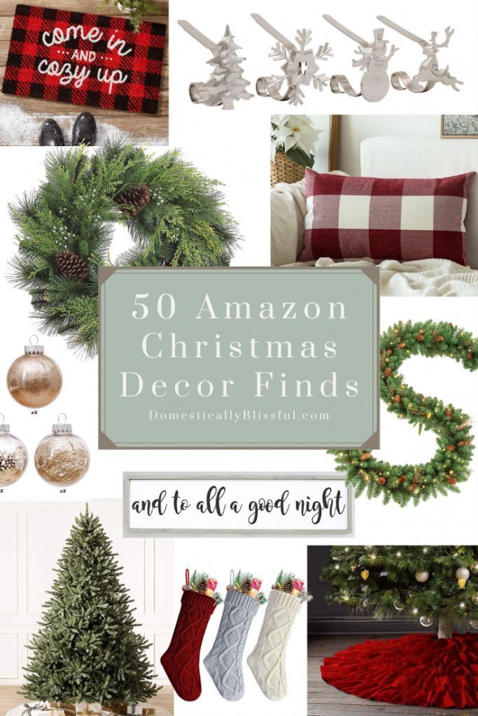50 Amazon Christmas Decor Finds Amazon Christmas Decorations Red Christmas Decor Holiday Decor