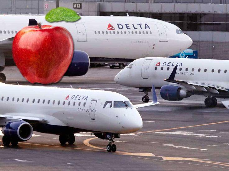 Delta passenger fined $500 for keeping free in-flight apple