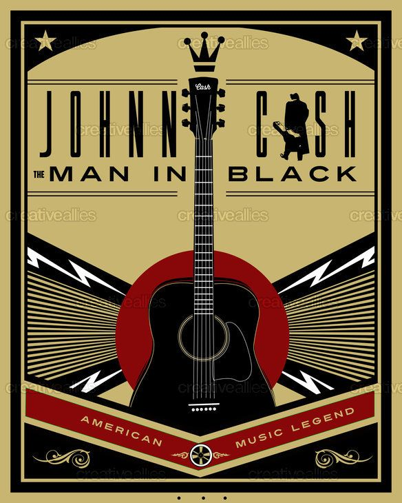 Johnny Cash Art #johnnycash #art | Creative Allies