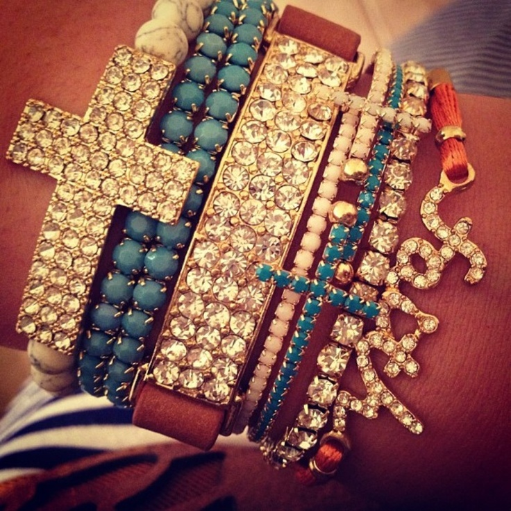 <3Stacked Bracelets, Faith, Jewelry, Crosses, Accessories, Arm Candies, Bohemian, Armparty, Arm Parties