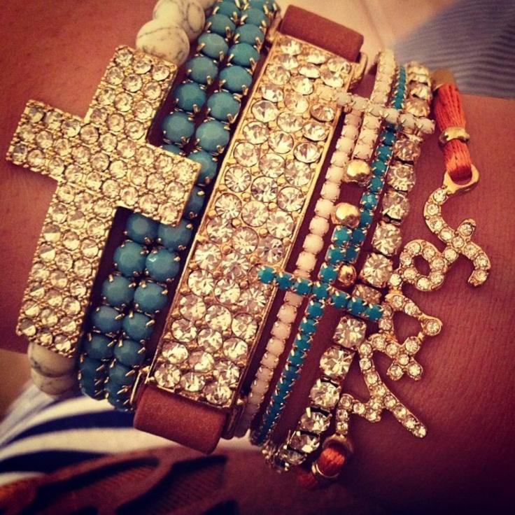 faith  crosses.#Repin By:Pinterest++ for iPad#: Arm Candy, Faith, Armparti, Stacking Bracelets, Cute Bracelets, Armcandi, Crosses, Accessories, Arm Parties