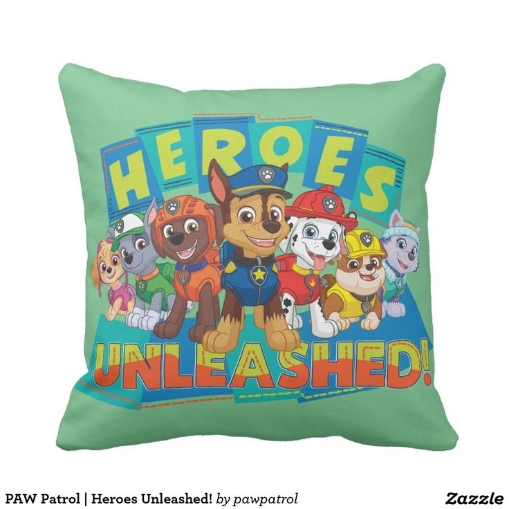 PAW Patrol | Heroes Unleashed! Puppy, dog lover. Regalos, gifts. #cojín #pillows