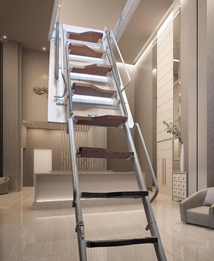 Oltre 25 fantastiche idee su Scala per soffitta su Pinterest  Scale loft, Soffitta mansarda e ...