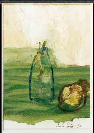 "Camille Souter ""Milk Bottle & Old Turnip"" (1973)"