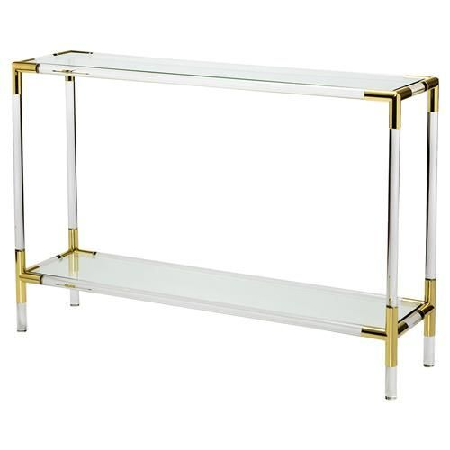 10 stunning acrylic console table designs
