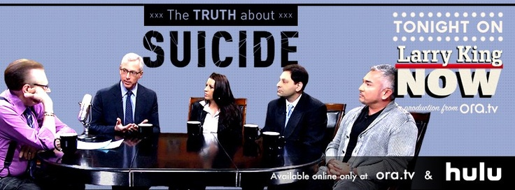 Responsible for more deaths each year than homicide, Dr.'s Drew Pinsky and Dan Reidenberg lift the veil on suicide, dispelling its misconceptions and offering guidance to those in need. Cesar Millan & Pattie Mallette also share their personal struggles. Watch this full episode of #LarryKingNow on Ora TV & Hulu: http://on.ora.tv/XscY8E