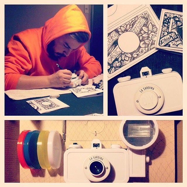 "Client: GROLSCH BEER Project: Custom Lomo camera ""la sardina"" by kartess"