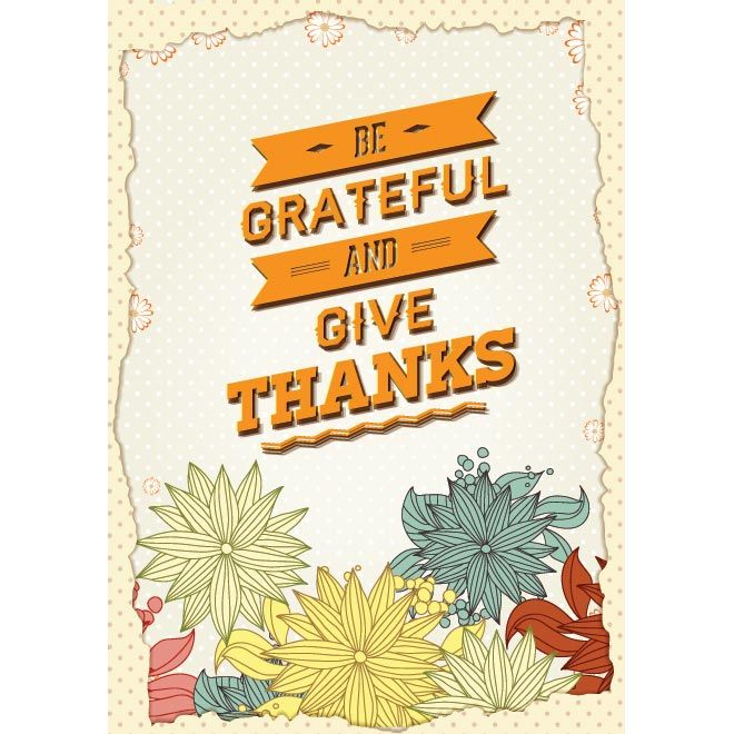 Grateful Designs For Thanksgiving Free Poster