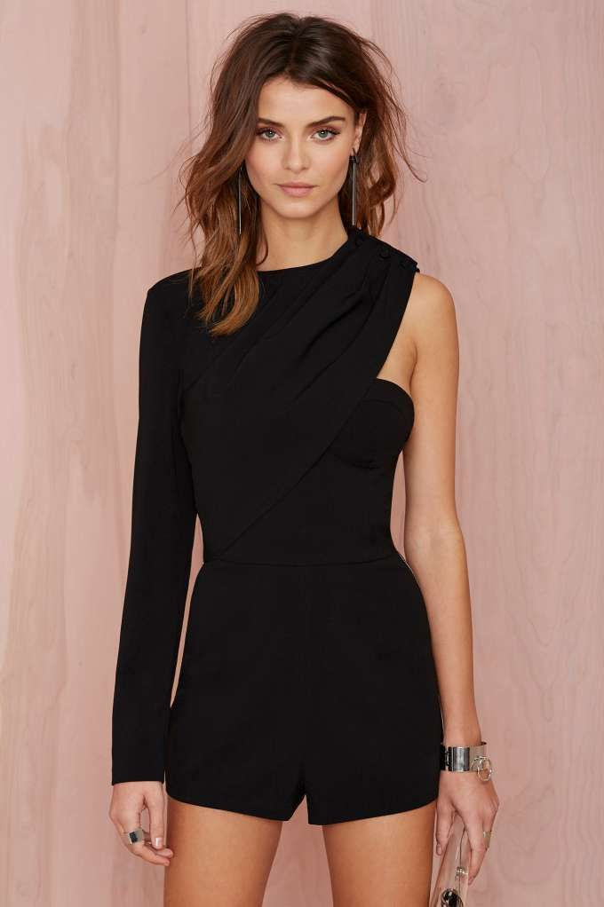 Nasty Gal Rock City Crepe Romper | Shop What's New at Nasty Gal