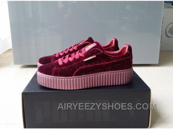 puma suede creepers rouge