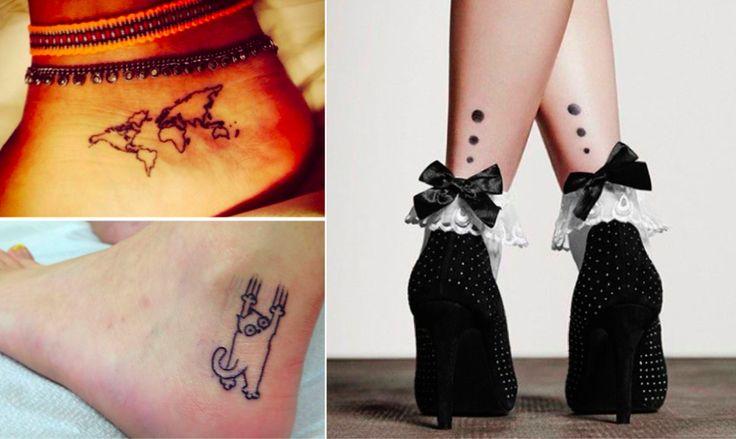 18 idées de tatouages tendances pour les pieds