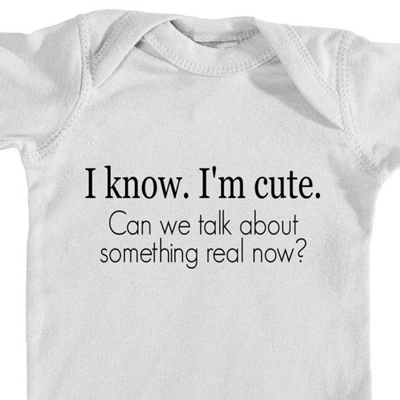 I Know I'm Cute Baby Clothes - Feminist Baby Clothes - Female Empowerment…