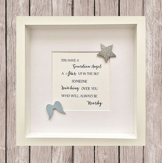 Guardian Angel Remembrance Framed Print by LittleMushroomCards