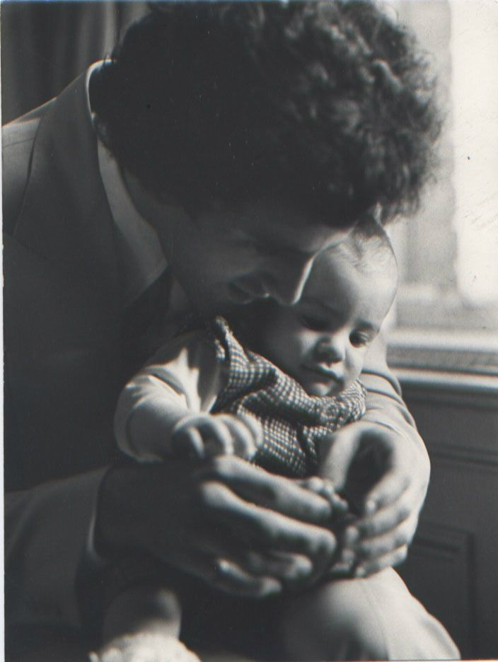 """Me holding baby Sage on the afternoon of the Rocky Premiere 1976 NYC - our world was about to change."" -Frank Stallone"