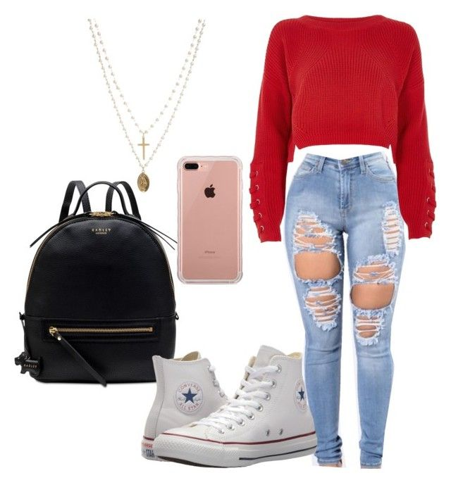 """""""Untitled #213"""" by aikoedith on Polyvore featuring River Island, Radley, Belkin, ASOS and Converse"""