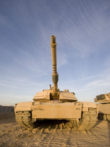 M1 Abrams Tank at Camp Warhorse Photographic Print by Stocktrek Images at Art.com