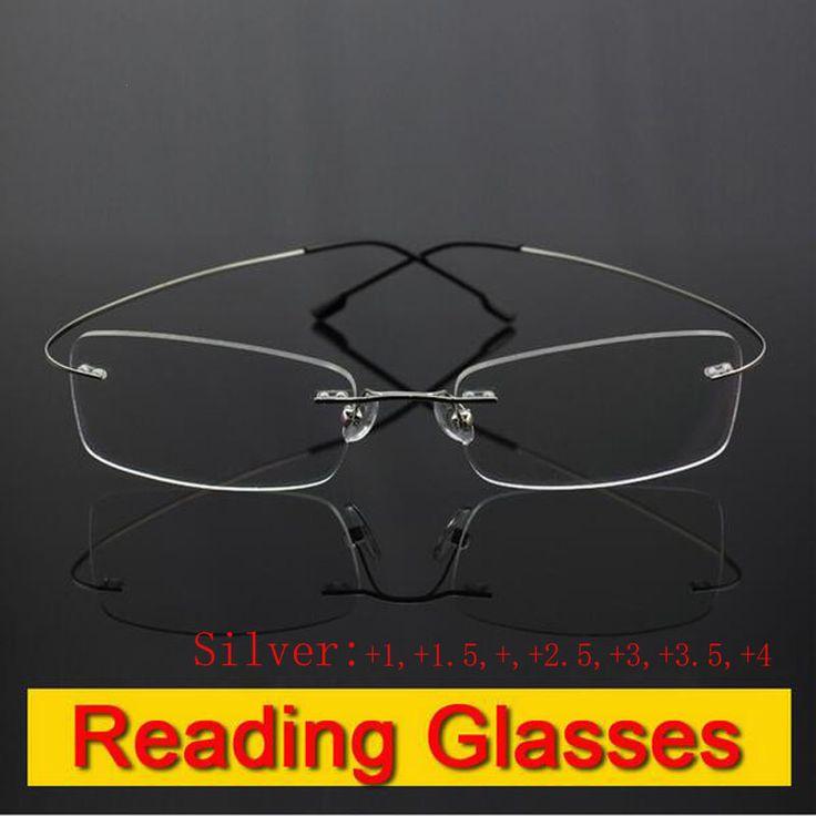 Aliexpress.com: Comprar Sin rebordes titanium memoria lentes flexibles plata lente de aumento gafas de lectura presbicia + 1.0 + 1.5 + 2.0 + 2.5 + 3.0 + 3.5 + 4.0 de presbyopic glasses fiable proveedores en Binsysu Glasses Store
