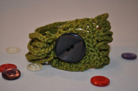 bracciale CURLY in cotone colore verde con di AlwaysLoveAffairs, $11.25