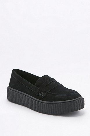 Harley Black Suede Creeper Loafers - Urban Outfitters