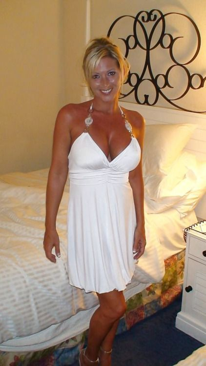 Michelle Conners - White dress | MILFs | White dress, Wife ...
