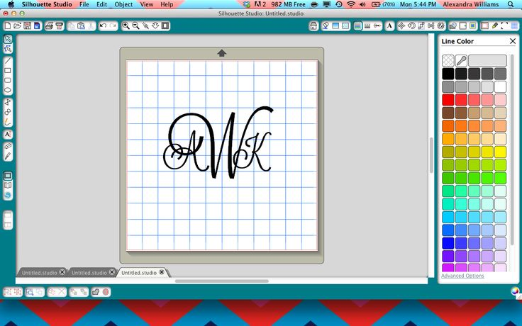 How to create a monogram in Silhouette Studio!