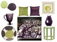 Purple and Green Bedroom