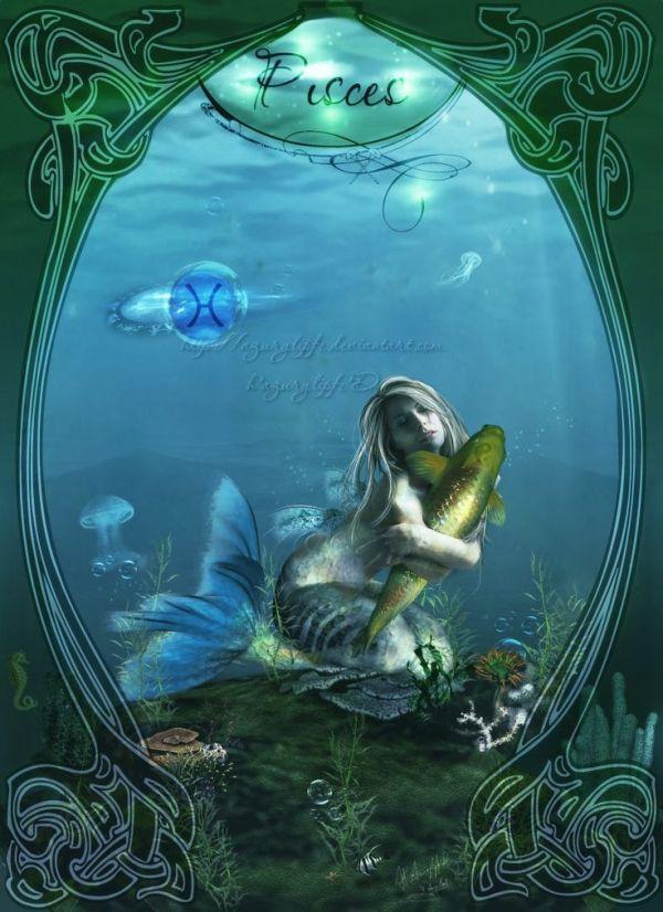 Открытки знаков зодиака рыбы
