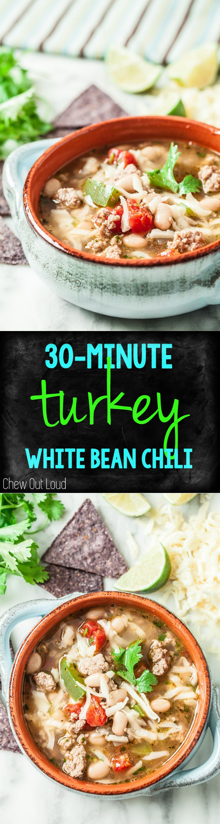 30-Minute White Bean Turkey Chili | Recipe | Chili, The o'jays and ...