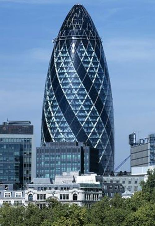 Cucumber building, England | Read More Info